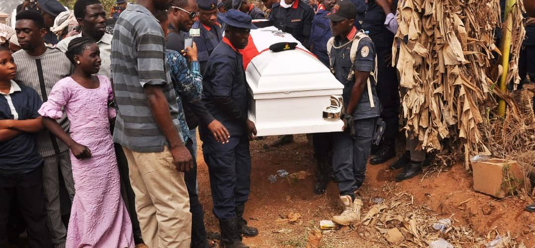 Oyo NSCDC Fallen Officer Buried Amidst Encomium,Oyo Government Paid Family Five Hundred Thousand Naira.