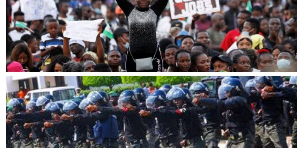 Anti-Riot Policemen Rescue TVC Staff, Building From Hoodlums