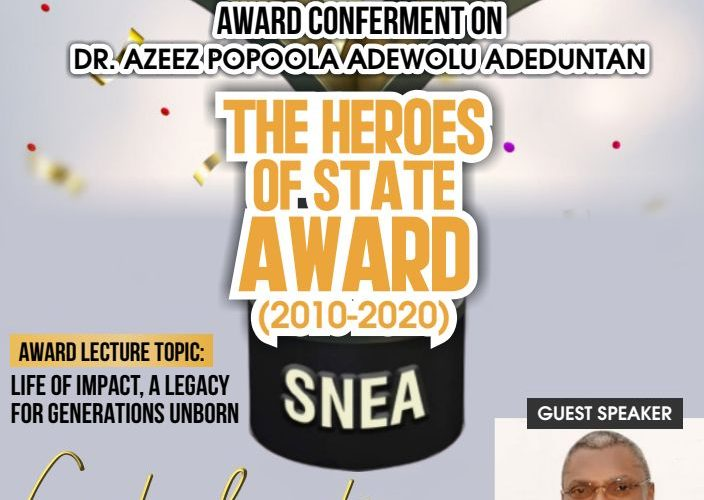 OYO GUBER HOPEFUL, ADEDUNTAN BAGS 2020 SOUTH WEST EXCELLENCE/HEROES AWARD ON THURSDAY
