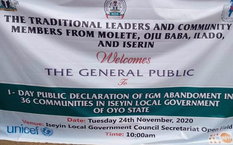 Thirty Six Iseyin Communities Declares Against FGM