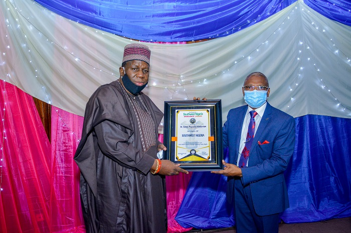 Oyo Guber Hopeful, Adeduntan Honoured At Southwest Nigeria Excellence/Heroes Award (Photos)