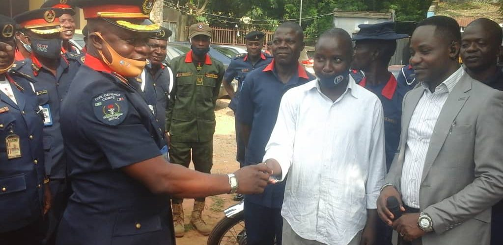 Oyo NSCDC Cooperative Distributes Motorcyles, Tricycle To Officers, Commissioned POS Centre For Conveniency
