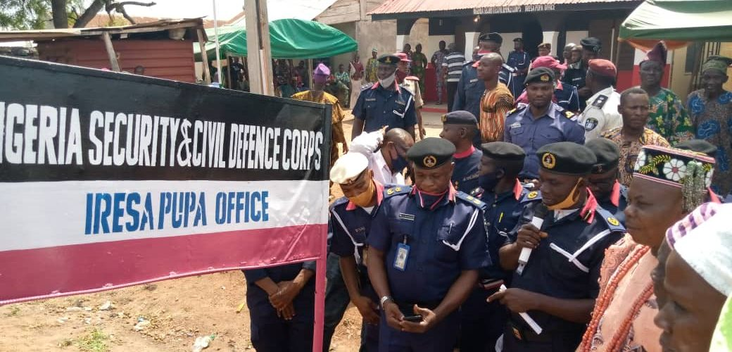 INSECURITY: Oyo NSCDC commissioned new office in surulere.